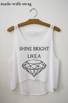Shine bright tonight, you and I, we're beautiful like diamonds in the sky.