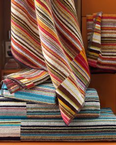 """""""Jazz"""" Bath Towels by Missoni Home at Horchow."""