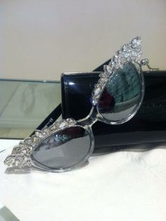 aca479c998f DSquared Cat Eye Sunnies with Swarovski Crystal detailing.