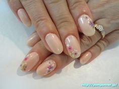オトナ可愛い桜ネイル #春ネイル #花柄ネイル
