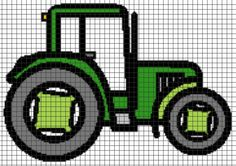 (4) Name: 'Crocheting : TRACTOR Graphghan Pattern