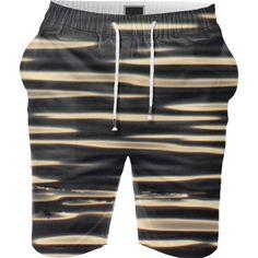 Black and golden stripes Color Profile, Summer Shorts, Stripes, Black, Black People
