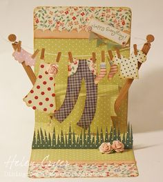 Seriously cute card by Helen Cryer using @Karen Burniston's Pop `n Cuts die by @Sizzix.