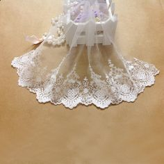 Lace Wholesale 7.1''Width DIY Lace Fabric White Embroidery Lace Trim Textile Clothes Sewing Accessories (White) -- More info could be found at the image url.