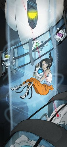Portal 2 by ~Invader-Zimie<<<<<<<<< I actually got a little sad when Wheatley changed
