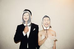 The bride and groom pose as each other! So funny. Photo by Todd Hunter McGaw Photography | via junebugweddings.com