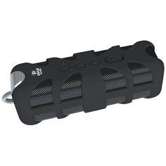Bluetooth Speaker Rugged Water Splash Proof Black Audio Sound Box