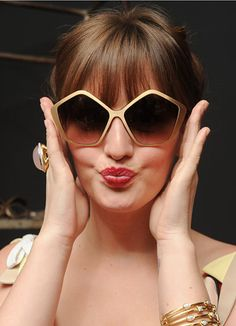 Leighton Meester at Mui Mui Culte Sunglasses Party in New York.