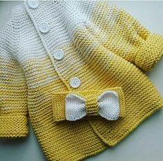 Knit baby vest, garter stitch