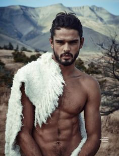 Marlon Teixeira is a Mountain Man for L'Officiel Hommes Brazil