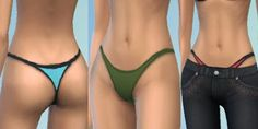 My Sims 4 Blog: Thong Underwear for Teen - Elder Females by KisaFa...