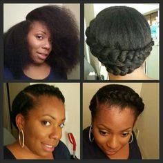 Goddess Braids- Cute Natural Hair Style