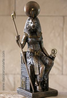 sekhmet goddess | Figure Goddess Sekhmet. Height 21 cm.  LOVE this one!