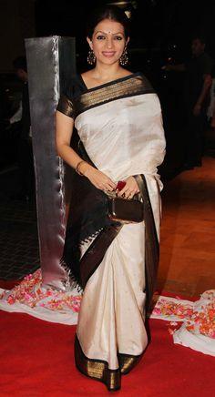 prachi shah in white silk saree