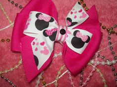 Valentines Minnie Mouse Stacked Bow with by CiaraCompanyBowtique, $3.50