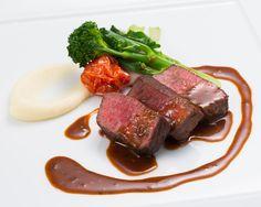 Roasted Motobu Beef Produced in Okinawa, Green Pepper Sauce