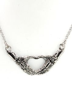 Skeleton heart necklace