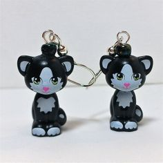 These earrings features a rare little kitty, I like to call Felix the Cat! If you know a LEGO® fan, animal lover, LEGO® lover, these are Lego Fish, Lego Jewelry, Lego System, All Lego, Felix The Cats, Little Kitty, Fish Hook Earrings, Lego Friends, Just For You