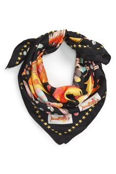 'One Night in Vegas' Silk Square Scarf by Karen Mabon on @nordstrom_rack
