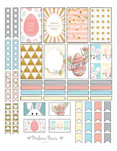 Free Printable Easter Stickers for your Planner