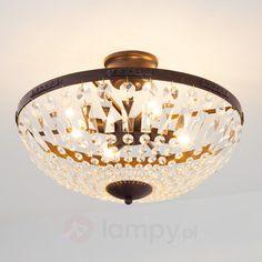 Iskrząca lampa sufitowa Daril w złotym brązie
