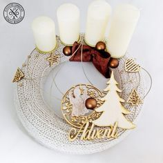 """""""Szerető szívek összefonódása"""" adventi koszorú - megvásárolható a webshopban Candle Sconces, Advent, Wall Lights, Candles, Home Decor, Appliques, Decoration Home, Room Decor, Candy"""
