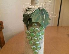 Grape bunch wine bottle light by UnCorkdCrafts on Etsy