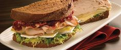 We take chicken sandwiches to a whole new level with the addition of pear and cranberry. The sweet and tart mixture is sure to tantalize your taste buds.