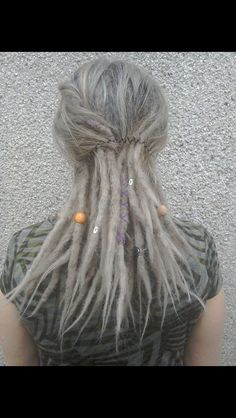 Grey dreadlocks