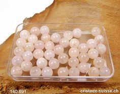 Morganite rose-pêche - Béryl, boule percée 6  mm Bracelet Wrap, Quartz Rose, Convenience Store, Creative, Jasper, Carnelian, Platonic Solid, Peach Rose