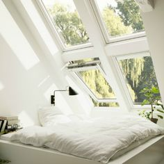 VELUX loft conversions - find your loft inspiration here Furniture, Room, House, Interior, Home, Loft Conversion Layout, Attic Rooms, Inspiration, Loft Inspiration
