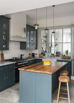 modern black white kitchen design Bethesda MD marble counters ...