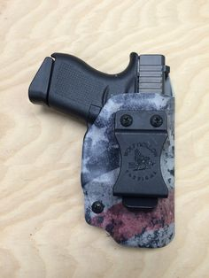 Glock 43 IWB holster with American flag printed kydex. www.wolfhollowtactical.com #kydex #holster #glock