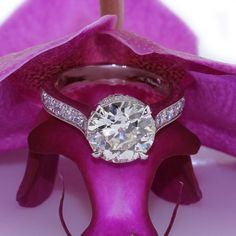 Antique European Round Cut Diamond Engagement Ring