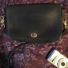 Coach purse Black with gold clasps, well used and cared forsome areas worn see pics. Priced to sell Coach Other