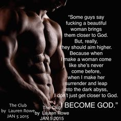 The Club by Lauren Rowe #AlphaMale (Review + Signed Giveaway) http://booksunhinged.com/the-club-lauren-rowe/