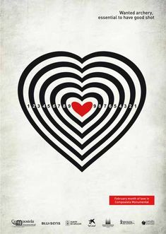 Wanted Archery: Essential to have Good Shot - from 20 Playful Happy Valentines Day Advertisement Ideas