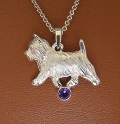 Small Sterling Silver Norwich Terrier Moving Study With a Amethyst Accent Pendant Dog Jewelry, Jewelry Tools, Ring Bracelet, Ring Earrings, Norwich Terrier, What Is It Called, Gift List, Dog Breeds, Dog Lovers