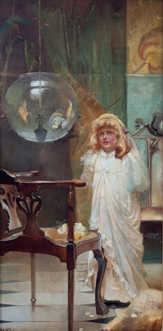 The Goldfish Bowl -  Beatrice Parsons ~ (English: 1870-1955)