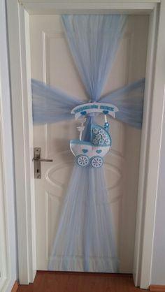 Bebegimin odasi hazir Cute Baby Shower Ideas, Boho Baby Shower, Baby Boy Shower, Baby Bedroom, Baby Boy Rooms, Baby Room Decor, Baby Boy Wreath, Baby Boy Themes, Baby Door