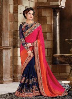 Multiple Dupioni Raw Silk Saree With Plain Pallu ,Indian Dresses