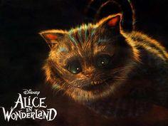 La locandina di Alice in Wonderland, con il Gatto del Cheshire, personaggio inventato da Lewis Carroll. Il film , del 2010, è diretto da Tim Burton e narra di eventi seguenti alle avventure vissute dalla ragazzina scritte nei romanzi Le avventure di Alice nel Paese delle Meraviglie e Attraverso lo specchio e quel che Alice vi trovò di Lewis Carroll.