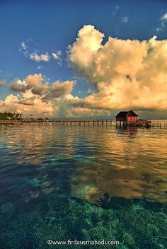 Sunrise in Mabul Island, Borneo, Samporna, Sabah, Malaysia