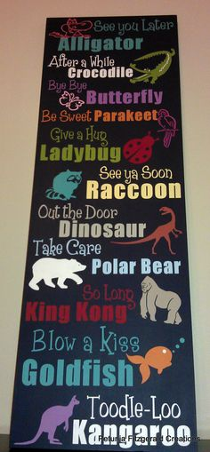 FUN print for play room.  See You Later Alligator