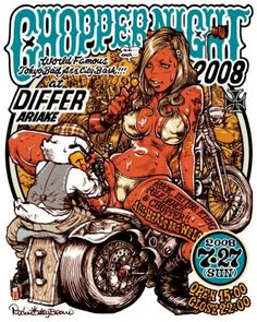 Chopper Night 2008 poster by Rockin'Jelly Bean