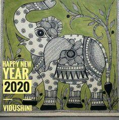 Madhubani Art, Madhubani Painting, Painted Indian Elephant, Elephant Sketch, Doodle Art Drawing, Indian Folk Art, Mandala Design, Fabric Painting, Bird Art