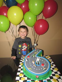 Mario Kart Birthday Cake - Is he not the cutest?
