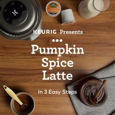 Enjoy the cozy comforts of Pumpkin Spice #latte in 3 easy steps with the K-Café Special Edition brewer.