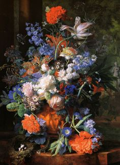 flowers by JAN VAN HUYSUM