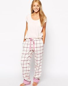 Jack Wills Flannel Brushed Cotton Check PJ Pant